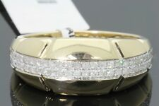 10K YELLOW GOLD .49 CARAT MENS REAL DIAMOND ENGAGEMENT WEDDING PINKY RING BAND