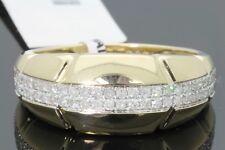 10K Oro Giallo .42 Carati da Uomo Matrimonio Fidanzamento Anello