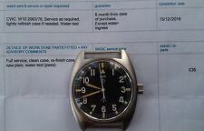 British Military CWC W10 Army/Navy/RAF Vintage Mechanical Hack Watch Serviced
