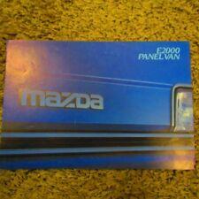 MAZDA E2000 E 2000 Panel Van UK Market Sales Brochure May 1984