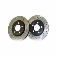 AUTOTECH ClubSport Front CrossDrilled Slotted Rotor Kit MK3 VR6 GTI Jetta 288mm