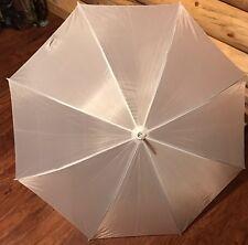 Anderson Umbrella Auto Open Wedding Umbrella, White