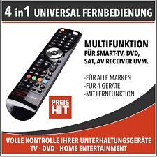 "HEITECH Lernfähige Universal Fernbedienung ""4in1"" TV SAT AV DVD CD Hochglanz"