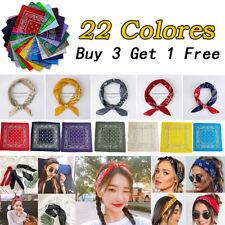 Cotton Head Wrap Cotton Paisley Bandanas Double Sided Scarf 22 Colors