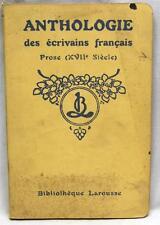 Anthologie Des Ecrivains Francais Prose Xvii Siecle Vintage Booklet 1920