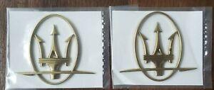 Maserati Gold Right and Left Pillar Emblems