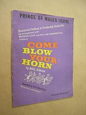 SHIRLEY EATON. COME BLOW YOUR HORN. NEIL SIMON. 1962 THEATRE PROGRAMME.