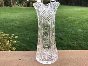 SIGNED J. HOARE AMERICAN BRILLIANT PERIOD CUT GLASS