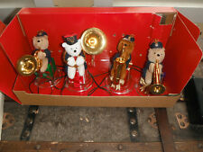 1995 Mr Christmas Brass Bear Band Trumpet French Horn Sax Tuba 21 Songs Works