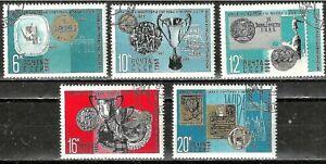 RUSSIA 1968 - SPORTS / ATHLETICS - on 5 Jumbo Stamps Scott 3535-3539 WYSIWYG