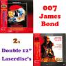2x Double Laserdiscs James Bond 007 The Living Daylights Licence To Kill Japan