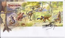 2013 Australia - Dinosaurs Mini Sheet FDC