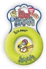 KONG AIR DOG Small Squeaker Tennis Donut - Dog Fetch Toy (ASD3)