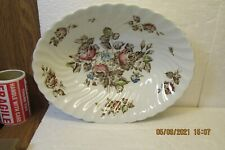 """Johnson Bros STAFFORDSHIRE BOUQUET 9 1/8"""" Oval Vegetable Bowl"""