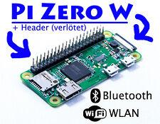Raspberry Pi Zero W (WLAN) mit eingelötetem 40 Pin Header ~KOSTENLOSER VERSAND~