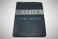 Radar Circuit Analysis, Department Of The Air Force, AF Manual 52-8 - June, 1951