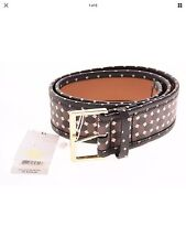 NEW Auth TORY BURCH Haber Printed Java Multi Gold Buckle Belt Size S $225