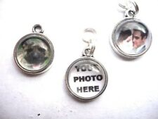 PERSONALISED PHOTO CHARM round 12mm for bracelet necklace keyring earrings watch
