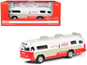 "1960 FLXIBLE STARLINER BUS ""COCA-COLA"" 1/64 DIECAST BY MOTORCITY CLASSICS 464005"