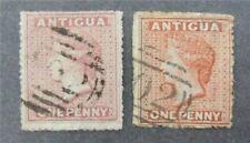 nystamps British Antigua Stamp # 2.3 Used $93 U4y1420