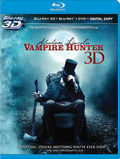 Abraham Lincoln: Vampire Hunter (3D Blu-ray/Blu-ray/DVD, 2012, 3-Disc Set)