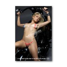 Z • 28 HARLEY DAVIDSON LOCKER MAGNET CUTE GIRL MINI POSTER OTHER COLLECTIBLE