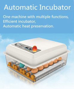 AIRV Egg Incubator Fully Automatic Digital Led Turning Chicken Duck Eggs Poultry