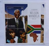 2013 St VINCENT & GRENADINES NELSON MANDELA MEMORIUM STAMP MINI SHEET #2