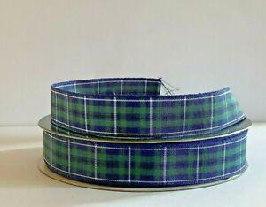 Douglas Modern Scottish Tartan Ribbon~16mm~1,2,3,4,or 5 metres~Free Postage