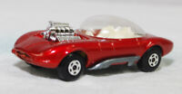 MATCHBOX SUPERFAST - SF-036B VER 3, HOT ROD DRAGUAR, RED, UNP BASE JB2672