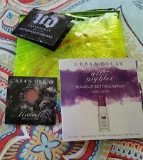 URBAN DECAY Distortion Stash Bag 3 Pc Set FIREBALL SHADOW, ALL NIGHTER ~NEW~
