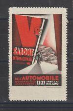 Italian Poster Stamp Cars Milan