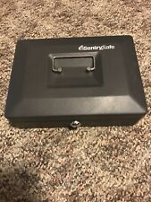 Sentry Safe Cash Box Locking Cash Box With Money Tray - Black