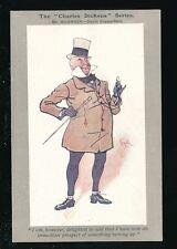 Literature CHARLES DICKENS Series Mr Micawber artist Kyd PPC pub by Faulkner