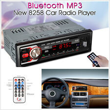 DC12V 1-Din Car Bluetooth LED Display Audio Stereo MP3 Player FM/SD/MMC/USB/AUX