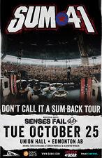 """Sum 41 /Senses Fail """"Don'T Call It A Sum-Back Tour"""" 2015 Edmonton Concert Poster"""