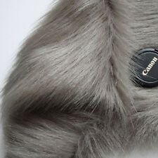 "Gray SHAGGY FAUX FUR FABRIC LONG PILE FUR costumes photography backdrops 60"" BTY"