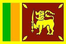 Aufkleber Sri Lanka Flagge Fahne 12 x 8 cm Autoaufkleber Sticker