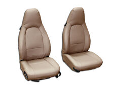 PORSCHE BOXSTER 1997-2004 BEIGE VINYL CUSTOM MADE FIT FRONT SEAT COVERS