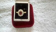 18ct gold diamond &  ruby