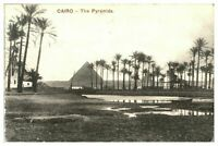 Antique printed postcard Cairo The Pyramids