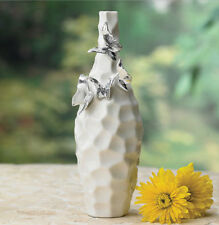 "Vase Butterfly Ceramic Bud Vase Dimensions: 9"" H New"