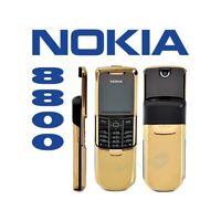 TELEFONO CELLULARE NOKIA 8800 GSM GOLD ORO FOTOCAMERA LUXURY PHONE NUOVO-