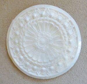"""New - Victorian Ceiling Light Medallion White Primed Urethane 22"""" Diameter"""