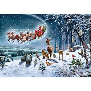 Christmas Jigsaw Puzzle 500 Pieces   Santa Snow Scene   Magical Christmas   NEW