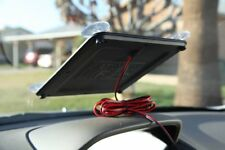 Solar Powered 12V Battery Charger Maintainer Sun Panel Plug LED Truck Boat Car