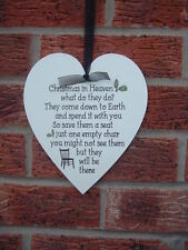 Christmas in heaven signs what do they do? heart shabby vintage chic hanging