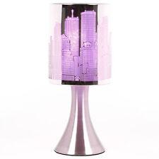 Lampe chevet New york à intensité variable    Touch NY  Tactile Violette   Déco
