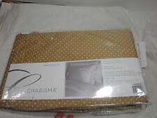 "New Charisma Lexington Dot Twin Bedskirt  39x75+18"" Drop 400 TC Gold NIP"