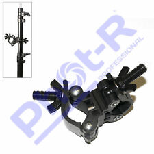Phot-R Double Super Clamp - Light Stand Boom Arm Crossbar Pole Studio Background